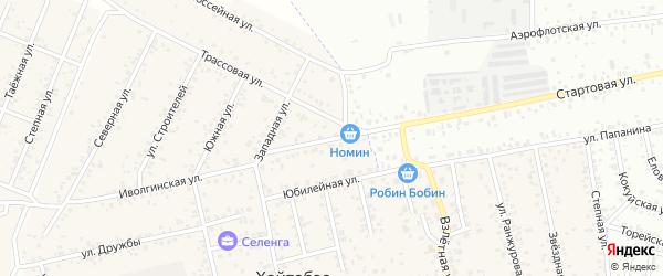 Стартовая улица на карте улуса Хойтобэе с номерами домов