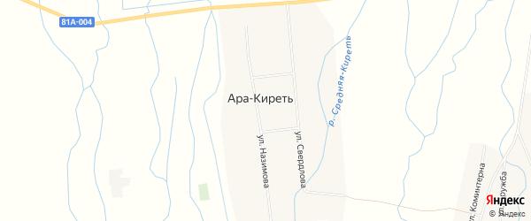 Карта села Ары-Киреть в Бурятии с улицами и номерами домов