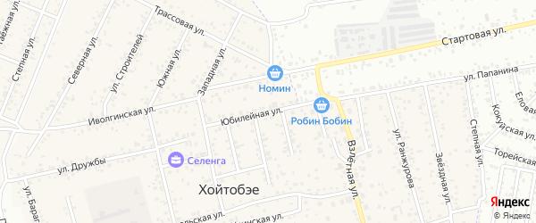 Юбилейная улица на карте улуса Хойтобэе с номерами домов