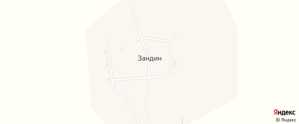 Центральная улица на карте улуса Зандина с номерами домов