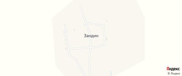 Восточная улица на карте улуса Зандина с номерами домов