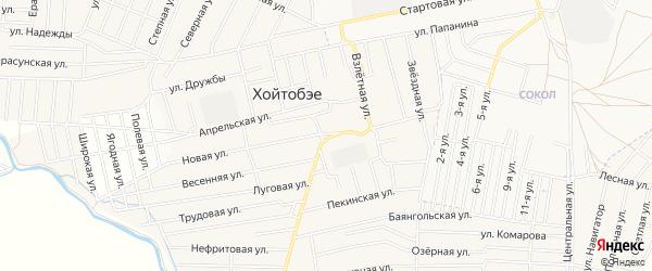 Карта улуса Хойтобэе в Бурятии с улицами и номерами домов