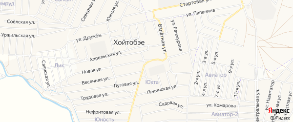 Территория ДНТ Юхта на карте улуса Хойтобэе с номерами домов