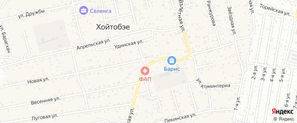 Залесная улица на карте улуса Хойтобэе с номерами домов