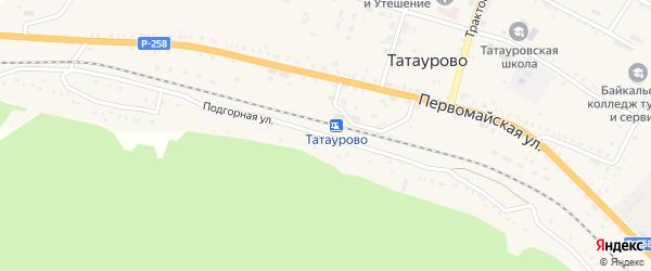 Подгорная улица на карте поселка Татаурово с номерами домов