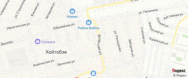 Улица Мира на карте улуса Хойтобэе с номерами домов