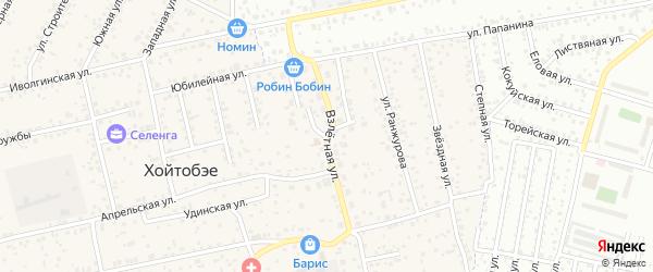 Взлетная улица на карте улуса Хойтобэе с номерами домов