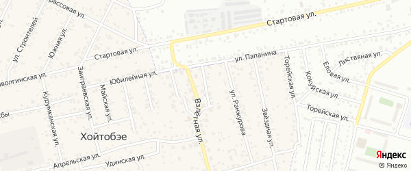 Зеленая улица на карте улуса Хойтобэе с номерами домов