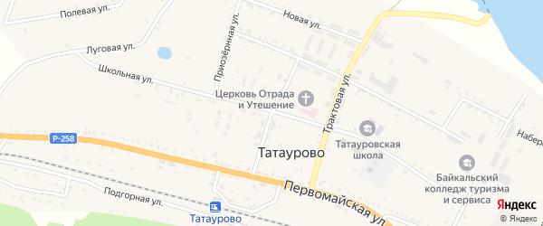 Молодежная улица на карте поселка Татаурово с номерами домов