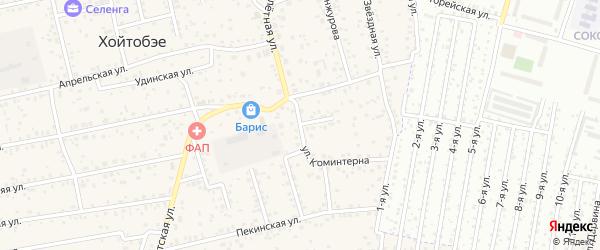 Улица Коминтерн на карте улуса Хойтобэе с номерами домов