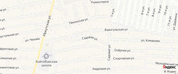 ДНТ Авиатор-2 Садовая улица на карте улуса Хойтобэе с номерами домов