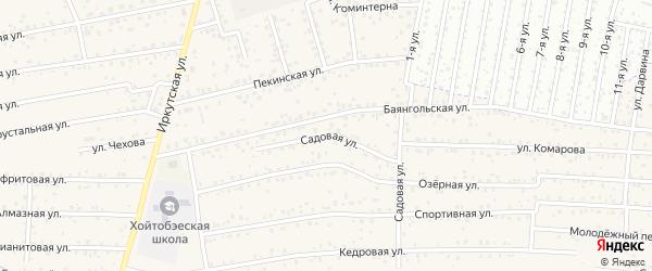 Садовая улица на карте улуса Хойтобэе с номерами домов