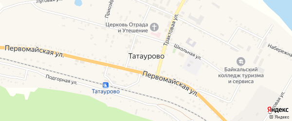 Сибирская улица на карте поселка Татаурово с номерами домов