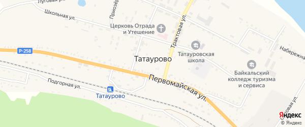 Садовая улица на карте поселка Татаурово с номерами домов