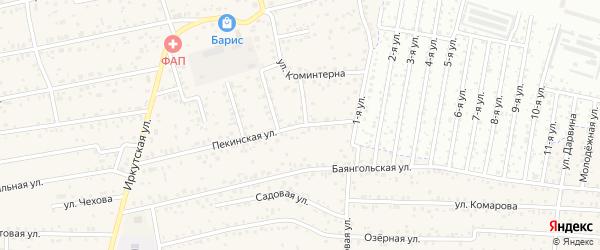 Пекинская улица на карте улуса Хойтобэе с номерами домов