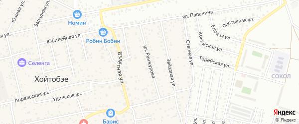 Улица Ранжурова на карте улуса Хойтобэе с номерами домов
