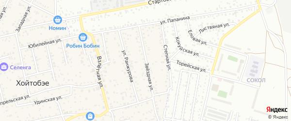 Звездная улица на карте улуса Хойтобэе с номерами домов