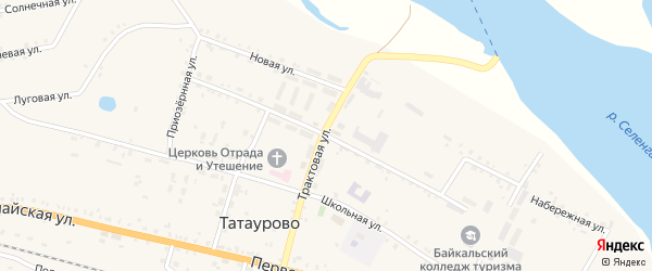 Сельскохозяйственная улица на карте поселка Татаурово с номерами домов