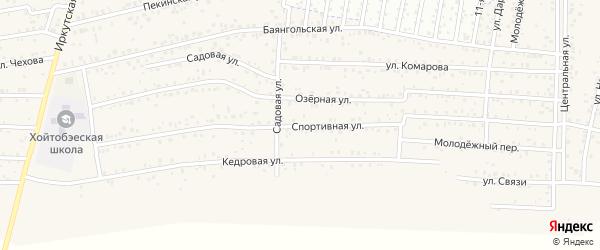 ДНТ Авиатор-2 Спортивная улица на карте улуса Хойтобэе с номерами домов