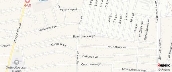 ДНТ Авиатор-2 Баянгольская улица на карте улуса Хойтобэе с номерами домов