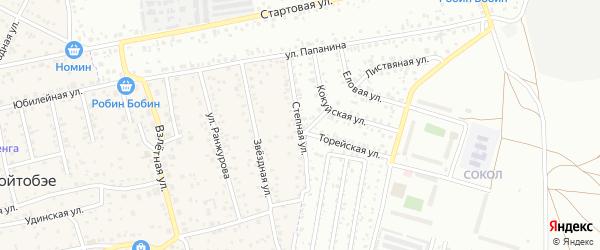 Степная улица на карте улуса Хойтобэе с номерами домов