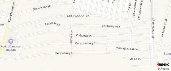 Озерная улица на карте территории ДНТ Авиатор-2 с номерами домов