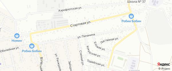 Улица Папанина на карте Улан-Удэ с номерами домов