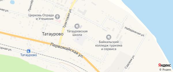 Школьная улица на карте поселка Татаурово с номерами домов
