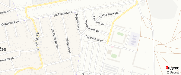 Торейская улица на карте Улан-Удэ с номерами домов