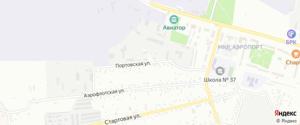 Портовская улица на карте Улан-Удэ с номерами домов