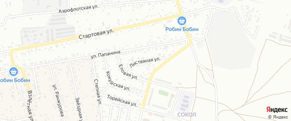 Листвяная улица на карте Улан-Удэ с номерами домов