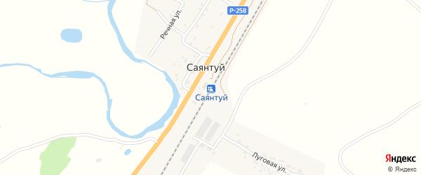 Железнодорожная улица на карте станции Саянтуя с номерами домов