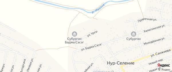 Улица Ургы на карте улуса Нур-селения с номерами домов