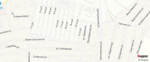 Улица 10-я (ДНТ Современник) на карте Улан-Удэ с номерами домов