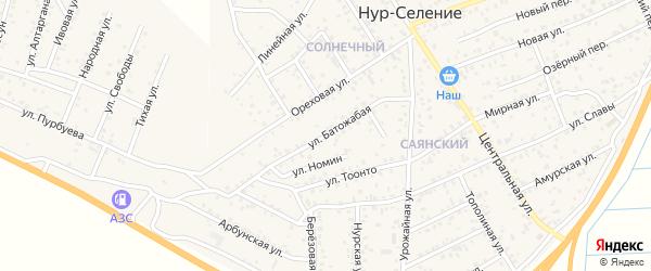 Батожабая улица на карте улуса Нур-селения с номерами домов