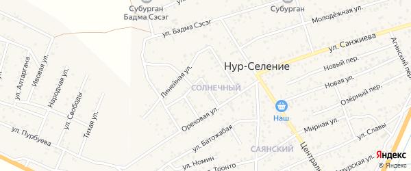 Солнечный квартал на карте улуса Нур-селения с номерами домов