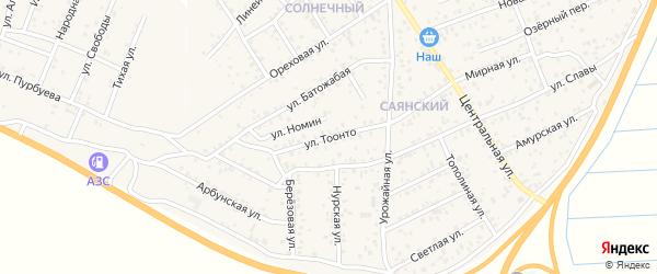 Улица Тоонто на карте улуса Нур-селения с номерами домов
