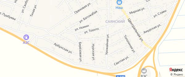 Челутайская улица на карте улуса Нур-селения с номерами домов