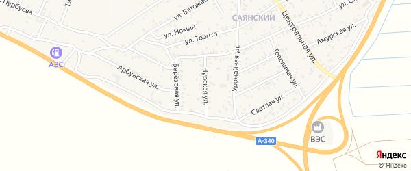 Нурская улица на карте улуса Нур-селения с номерами домов