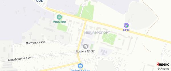 Микрорайон Аэропорт на карте Улан-Удэ с номерами домов