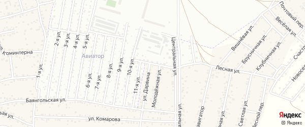Закаменская улица на карте улуса Хойтобэе с номерами домов