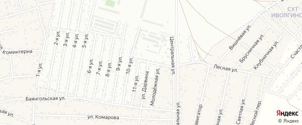 Закаменская улица на карте Улан-Удэ с номерами домов