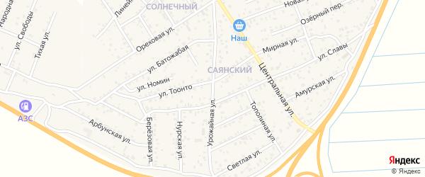 Урожайная улица на карте улуса Нур-селения с номерами домов
