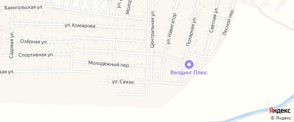ДНТ Авиатор-2 Центральная улица на карте улуса Хойтобэе с номерами домов