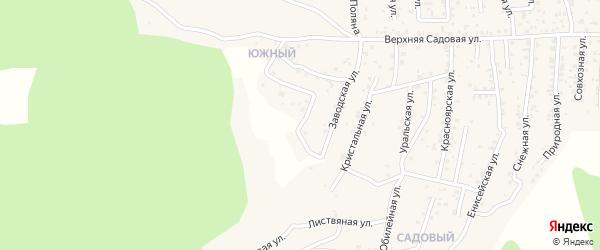 Квартал Южный Грибная улица на карте села Сотниково с номерами домов