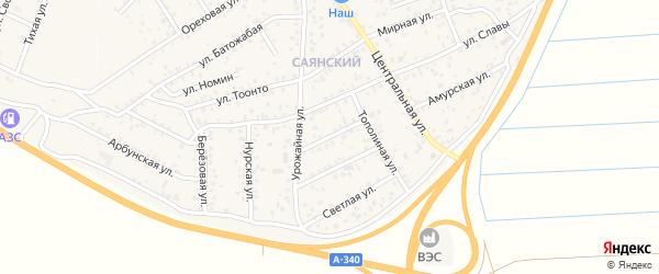 Степная улица на карте улуса Нур-селения с номерами домов