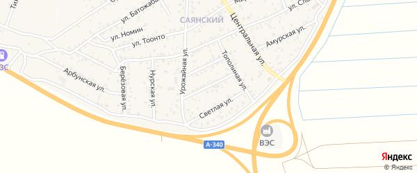 Иволгинская улица на карте улуса Нур-селения с номерами домов