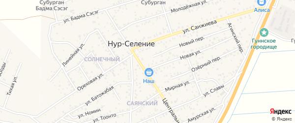 Магистральная улица на карте улуса Нур-селения с номерами домов