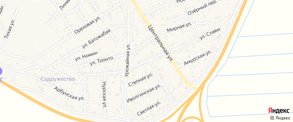Селенгинская улица на карте улуса Нур-селения с номерами домов