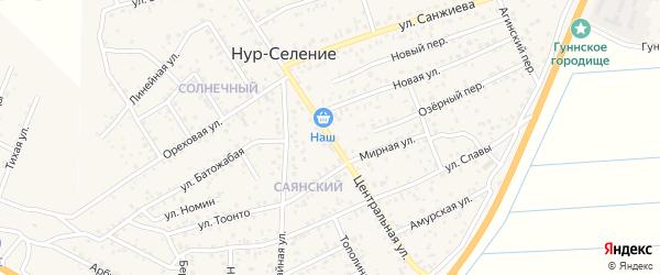 Центральная улица на карте улуса Нур-селения с номерами домов